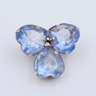 Antique 3 hearts Brooch 1930s