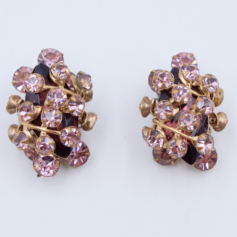 Vintage Purple Earrings 1950s