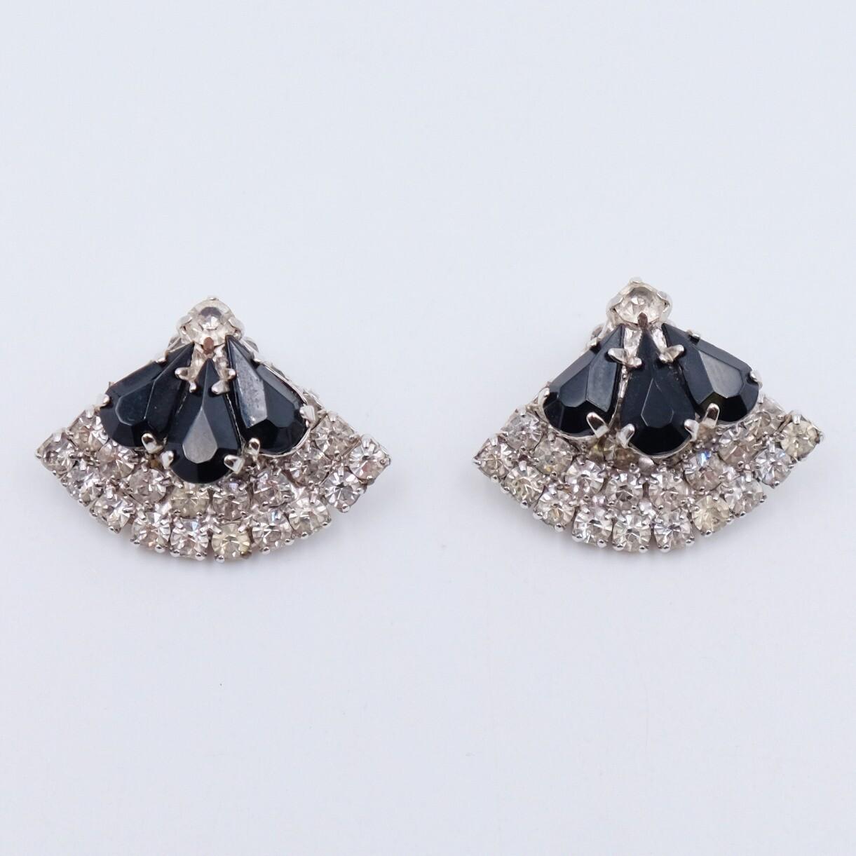 Vintage Fan Earrings 1950s