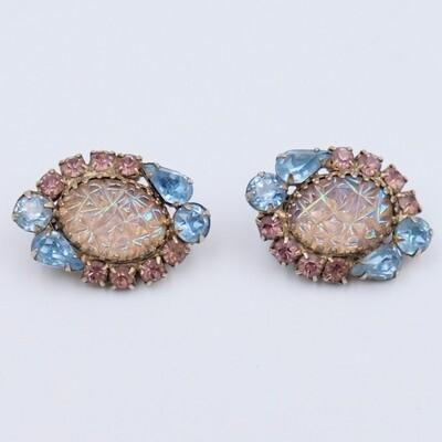 Vintage Hobe Earrings Saphiret 1960s