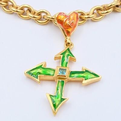 Vintage Christian Lacroix Cross Pendant 1990s