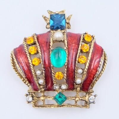 Винтажная брошь Корона