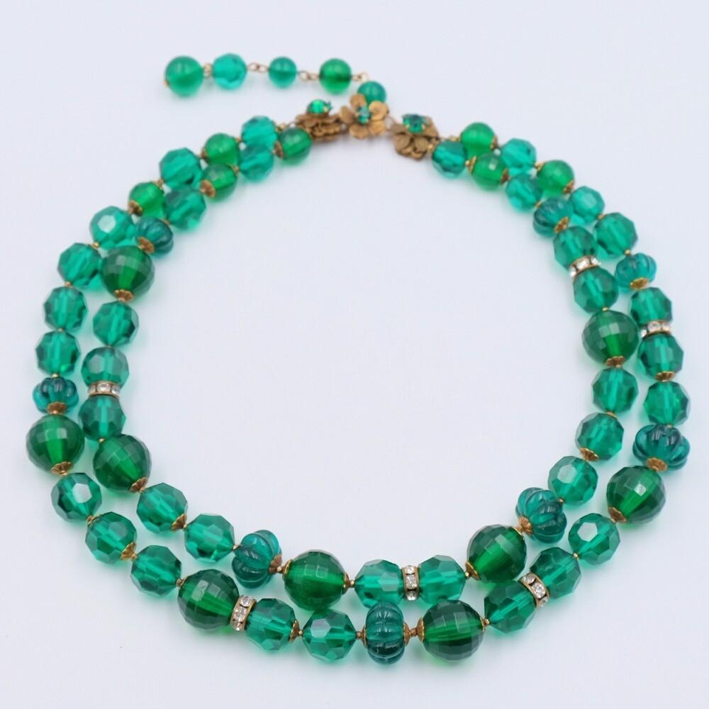 Vintage DeMario Green Necklace 1950s