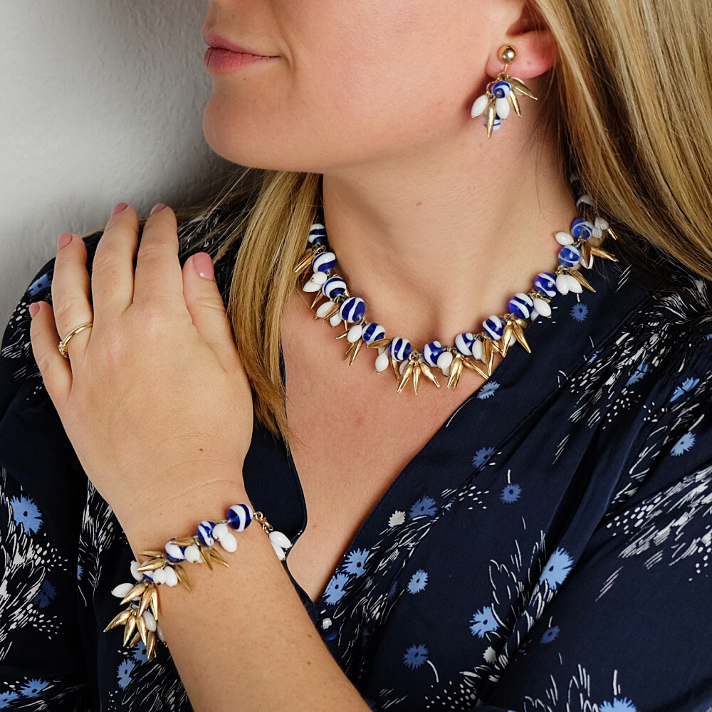 Vintage Hattie Carnegie 1950s Set Necklace, Bracelet and Earrings