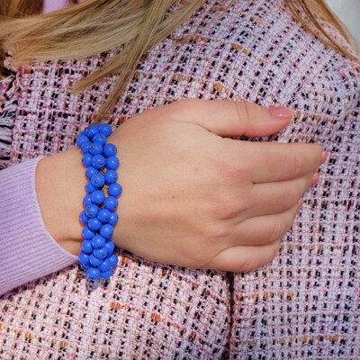 Haskell Early Blue Glass Bracelet