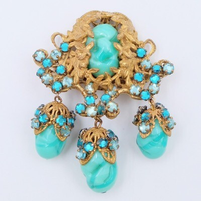 Haskell Frank Hess Dangle Brooch