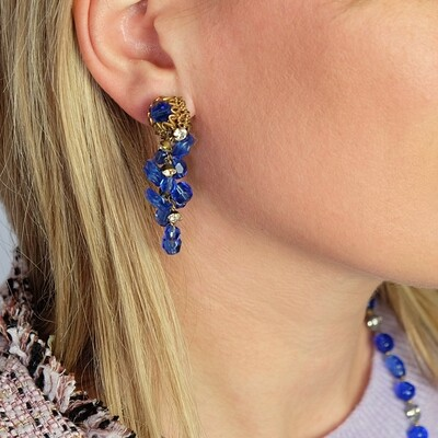 Haskell Blue Dangle Earrings