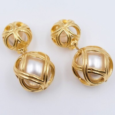 Vintage Christian Dior Earrings 1980s
