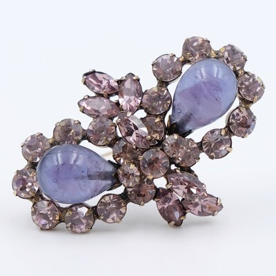 Lavender Regency Brooch 1960s