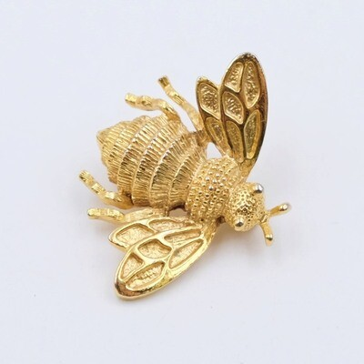 Vintage Bee Brooch 1990s