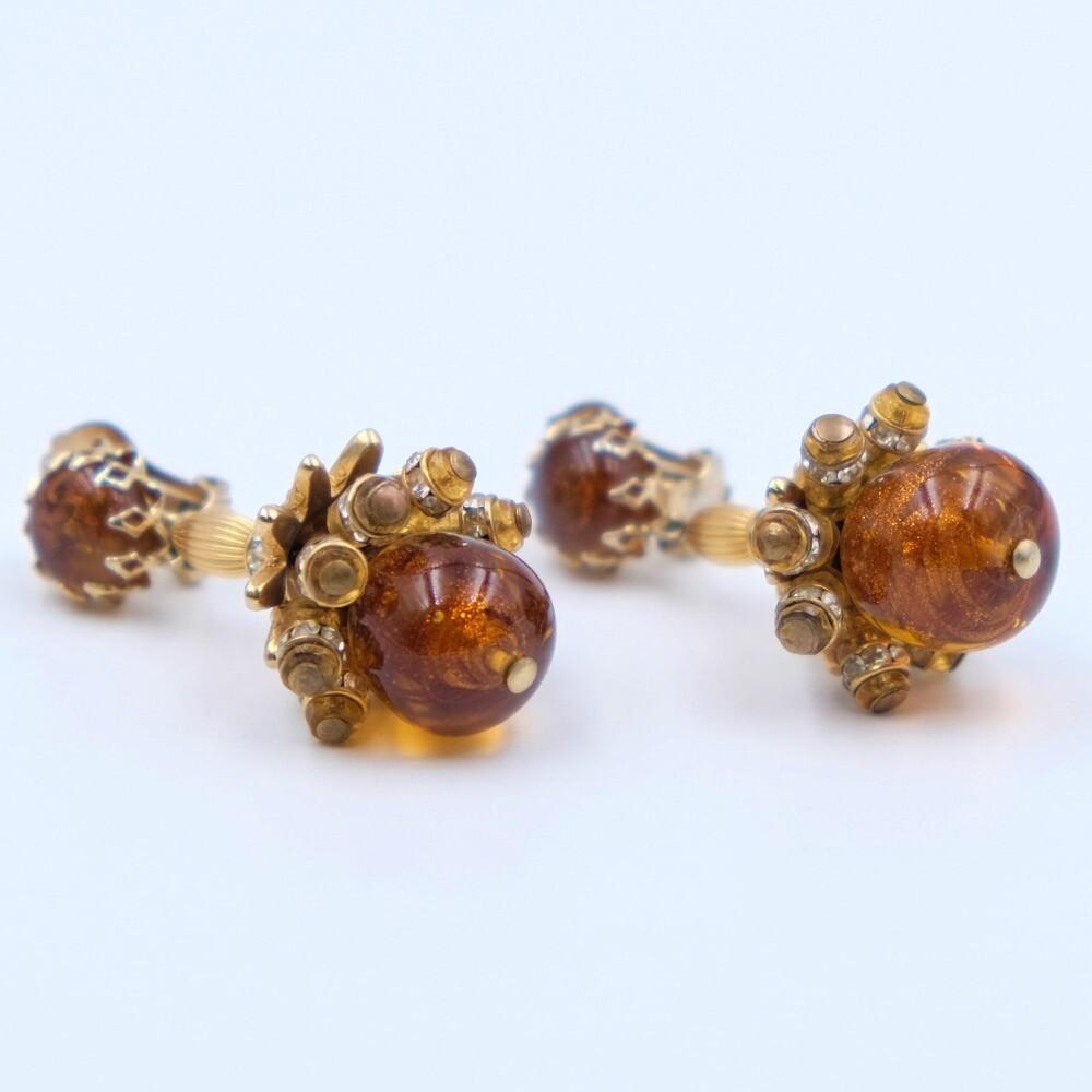 Vintage Rare Elsa Schiaparelli Earrings 1950s