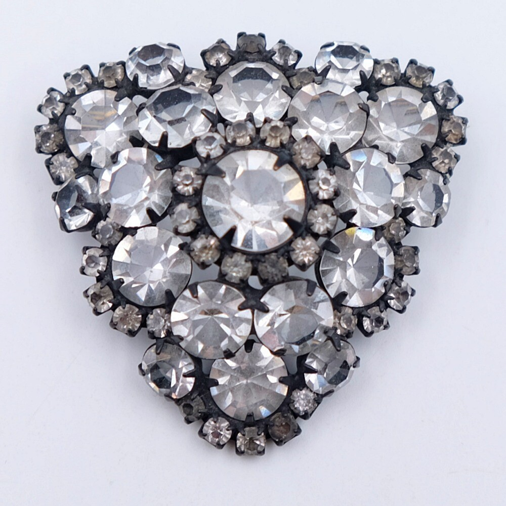 Czech Clear Rhinestones Brooch