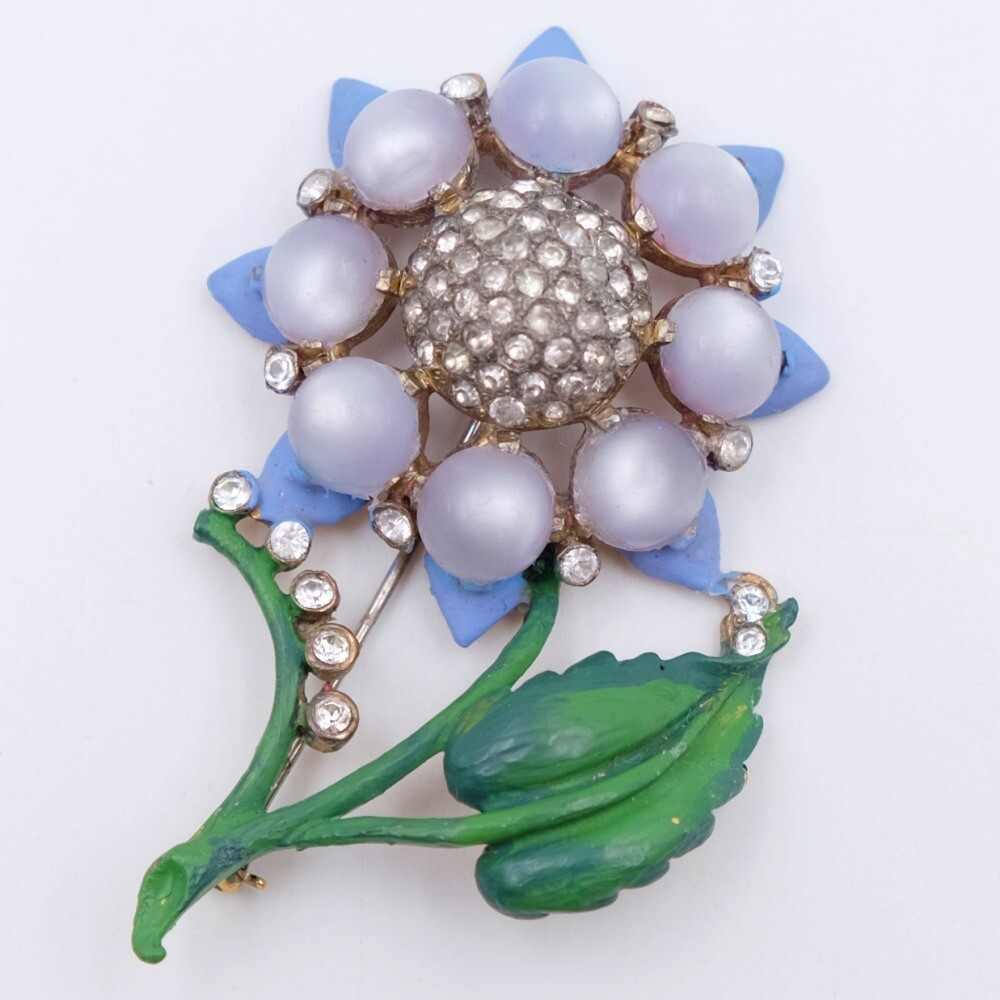 Reja Early 1930 Flower Brooch