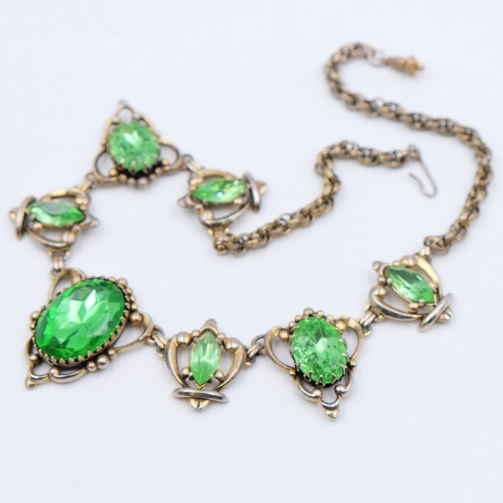 Elsa Schiaparelli Lime Color Necklace 1950s