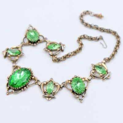 Elsa Schiaparelli Lime Color Necklace 1950s