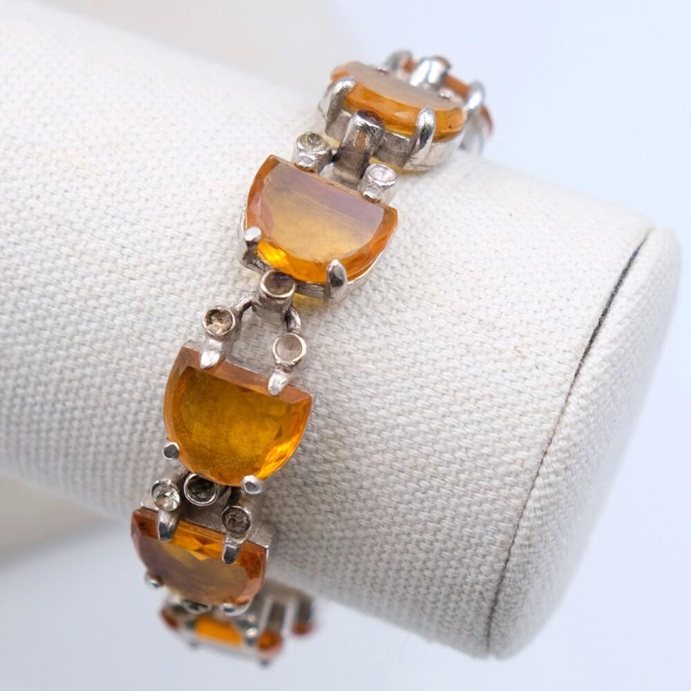 Rare Reinad Faux Topaz Bracelet 1940s