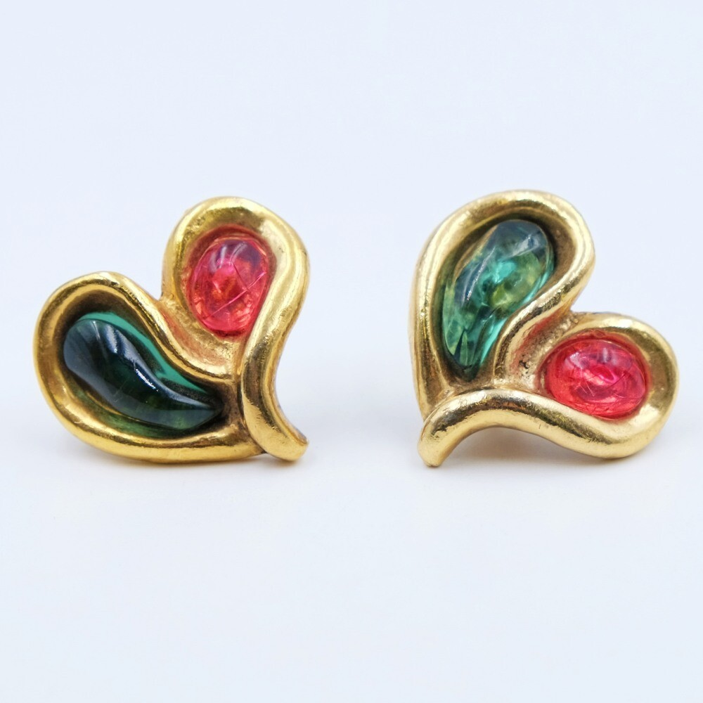 Vintage Emanuel Ungaro Hearts Earrings 1990s