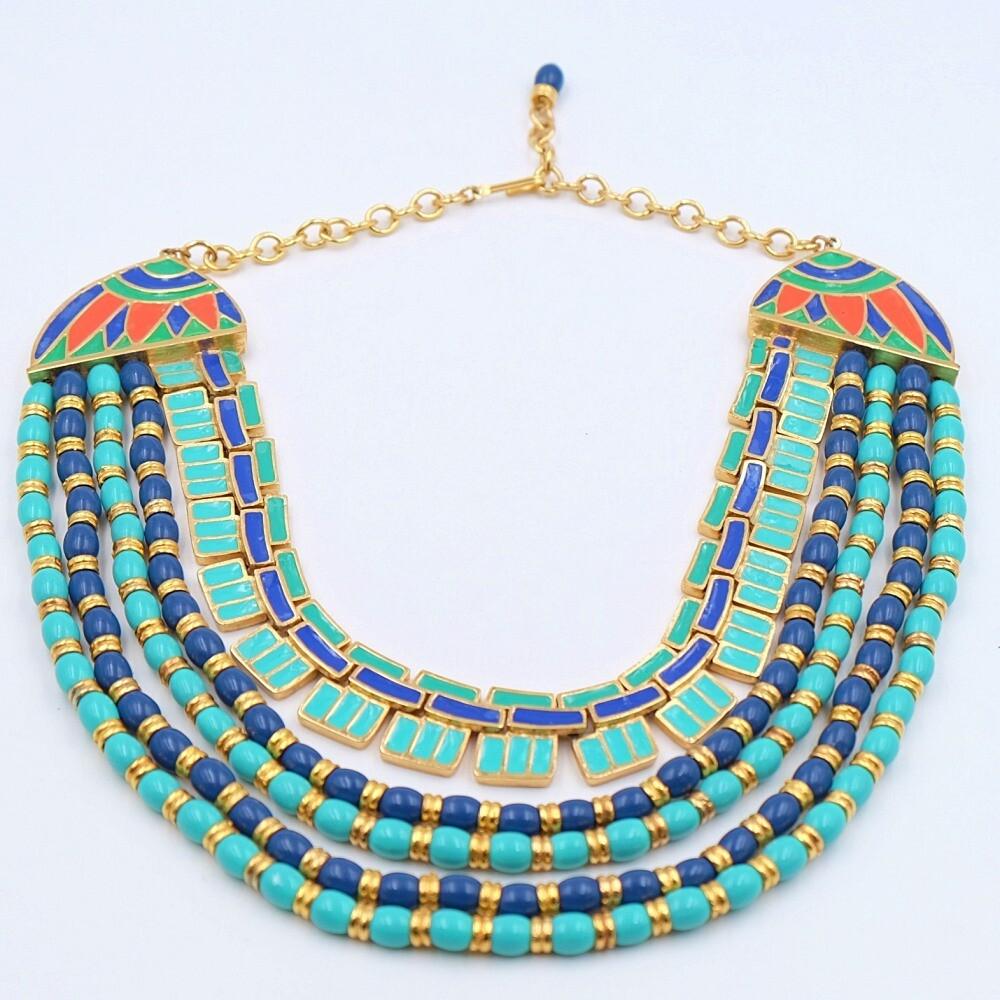 Vintage Hattie Carnegie Egyptian Revival Necklace