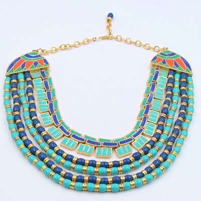Vintage Hattie Carnegie Egyptian Revival Necklace