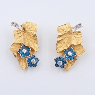 Vintage Pennino Earrings Flowers 1960s