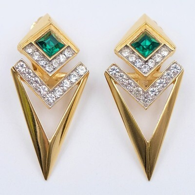 Vintage Givenchy Geometry Earrings 1970s