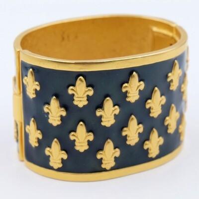Vintage Karl Lagerfeld Cuff Enamel Bracelet 1990s