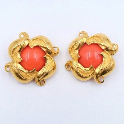 Vintage Fendi Clip on Earrings 1990s