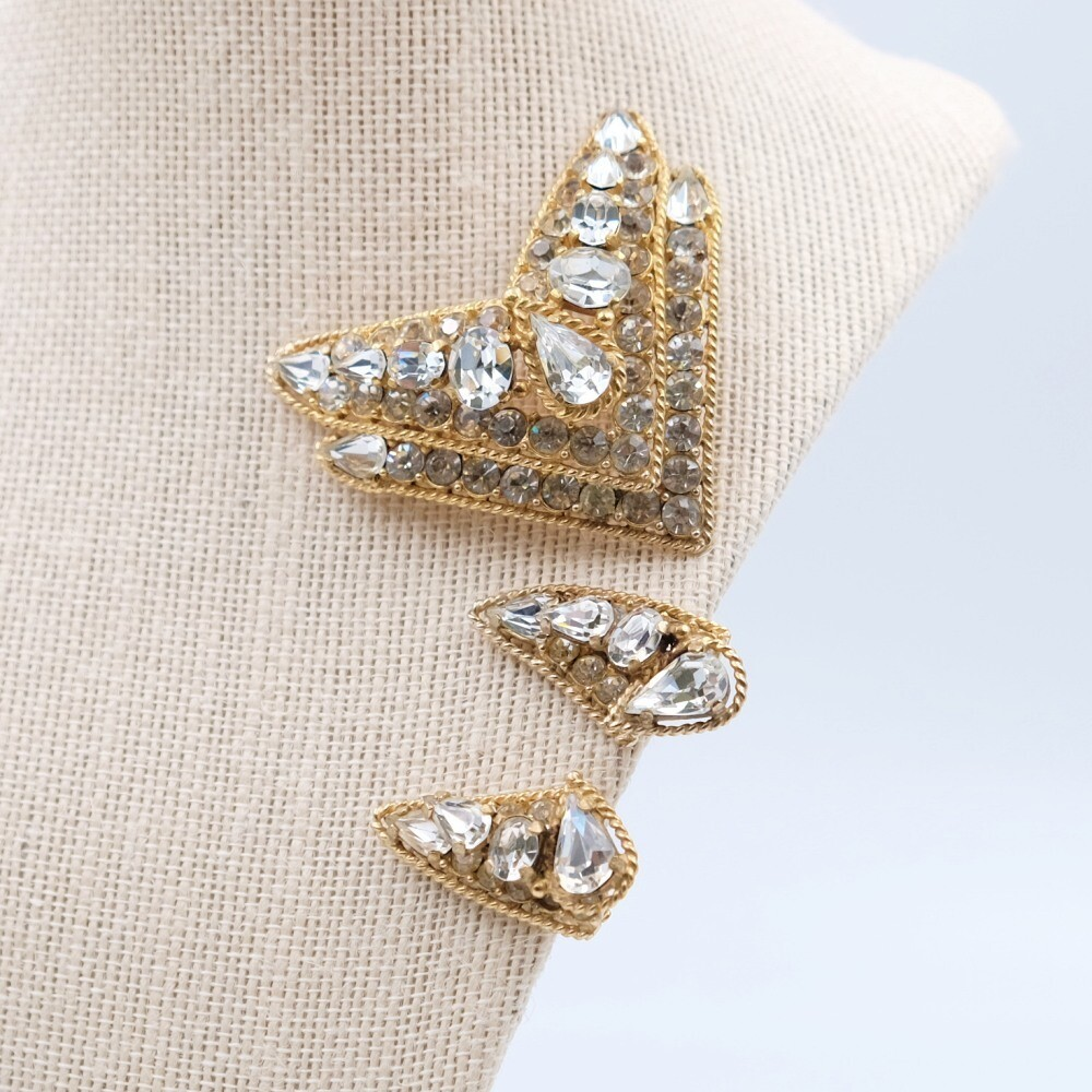 Early Castlecliff pin and earrings 1950s