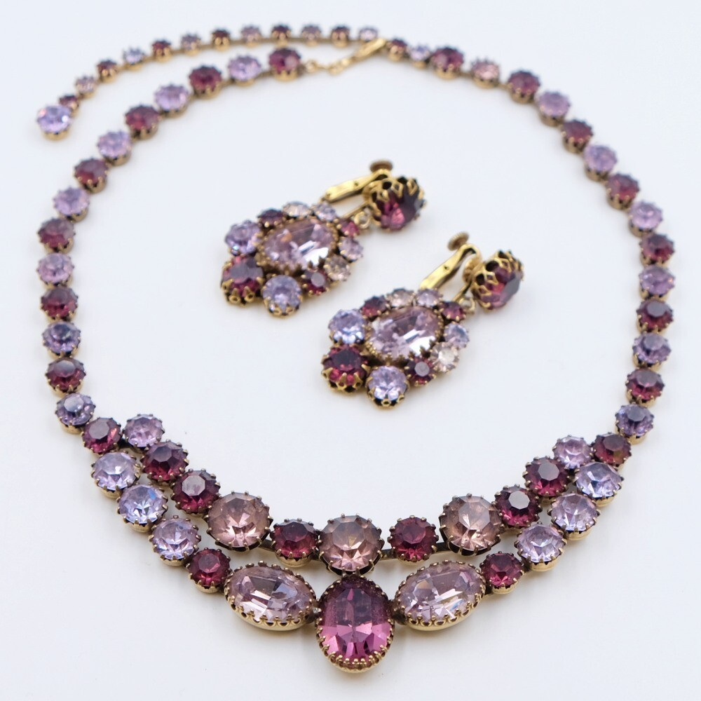 Vintage Collectible Vendome Set Necklace and Earrings