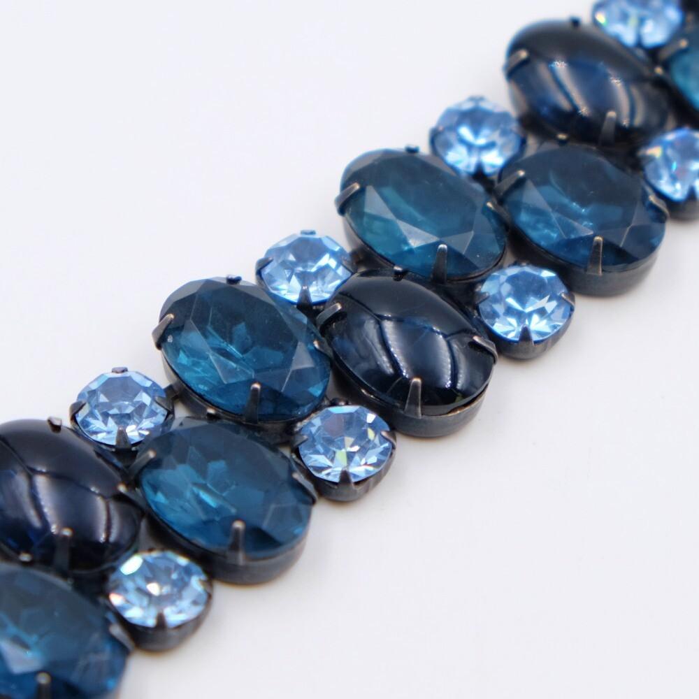 Vintage Regency Deep Blue Bracelet 1950s