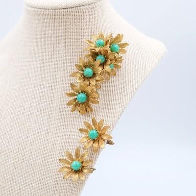 Vintage Miriam Haskell Flower Set