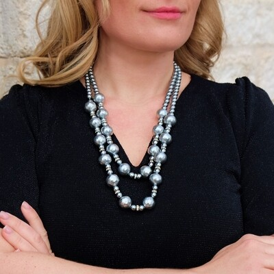 Vintage Baroque Miriam Haskell Faux Pearl Necklace