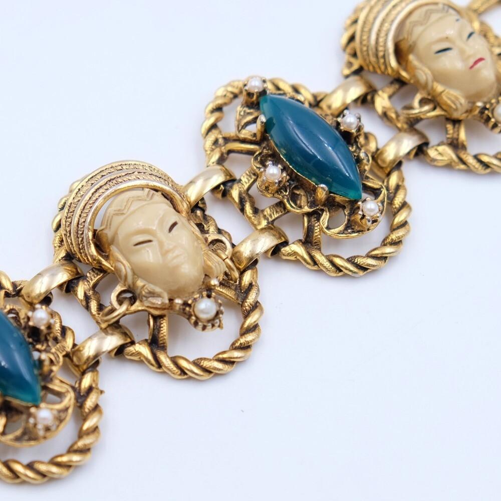 Vintage Selro Oriental Bracelet 1950s