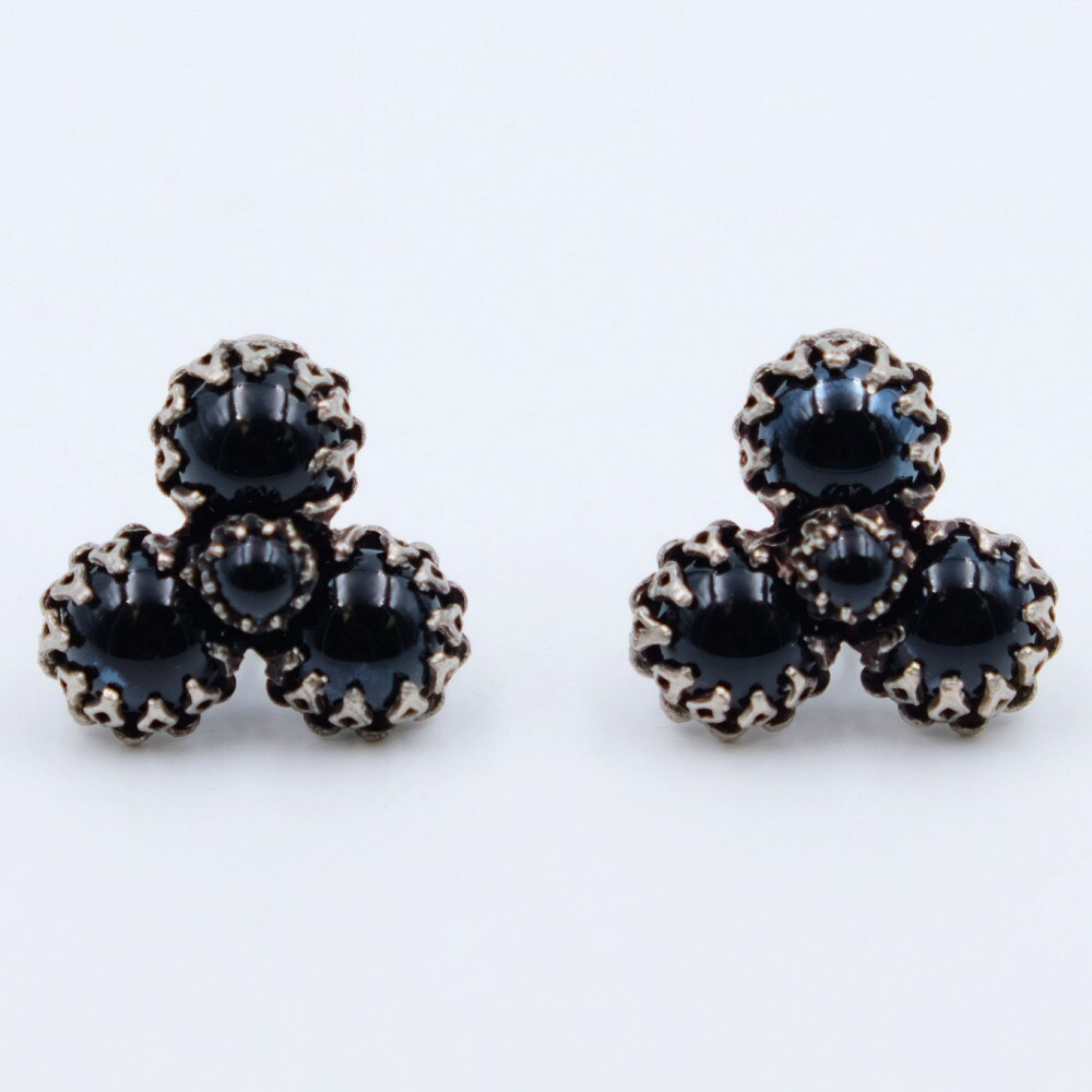 Vintage Christian Dior by Kramer Black Glass earrings