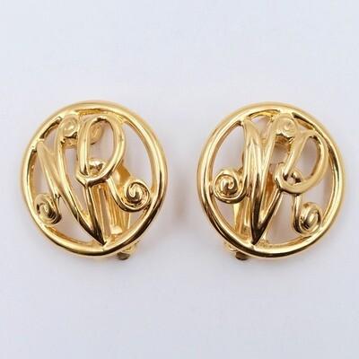 Vintage Nina Ricci Clip on earrings 1990s