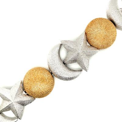 Vintage Christian Dior Bracelet Moon Star 1990s