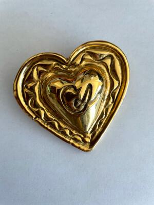 Christian Lacroix Massive Heart Brooch 1990s