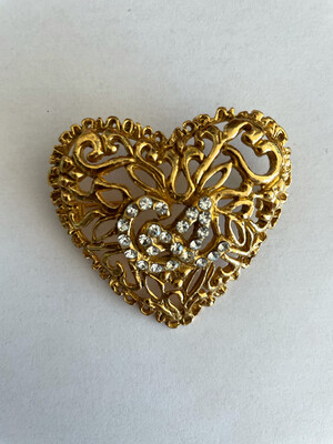 Vintage Christian Lacroix Heart Brooch