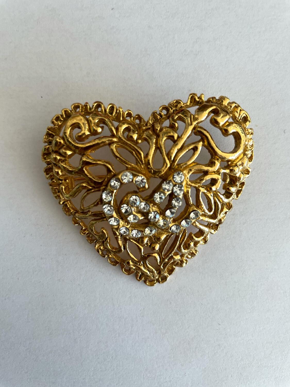 Vintage Christian Lacroix Heart Brooch