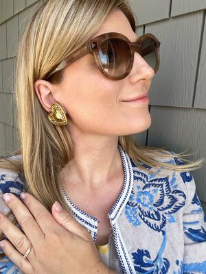 Yves Saint Laurent Hearts Earrings 1980s