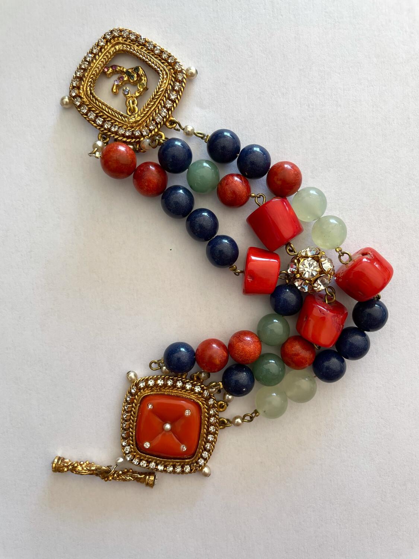 Christian Lacroix Faux Coral Sea Bracelet 2000s