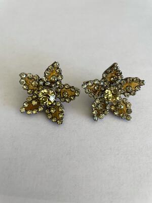 Vogue Bijoux Poured Glass Sea Earrings 1950s
