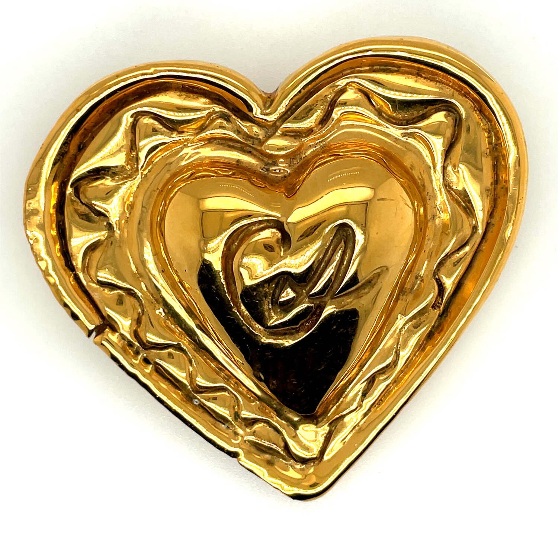 Christian Lacroix Massive Puff Heart Brooch 1990s
