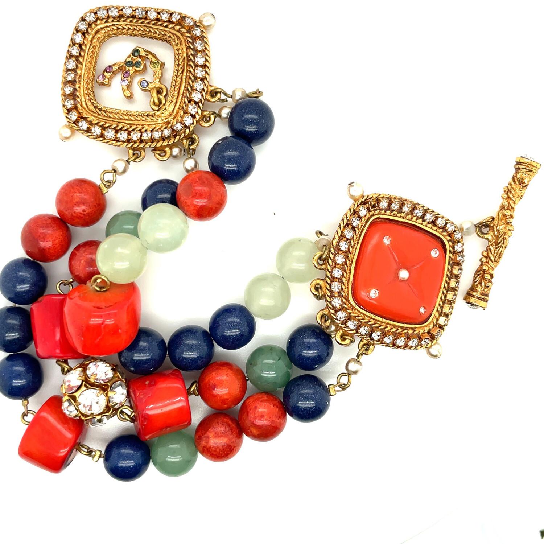 Vintage Rare Christian Lacroix Faux Coral Bracelet 2000s