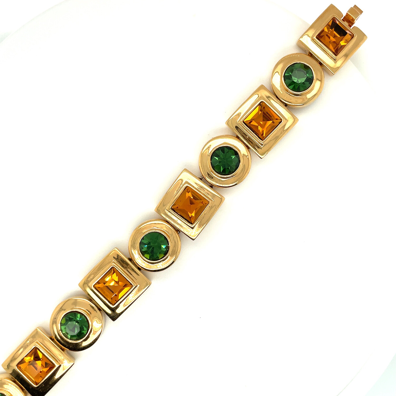 Vintage Geometry Bracelet 1990s Unsigned