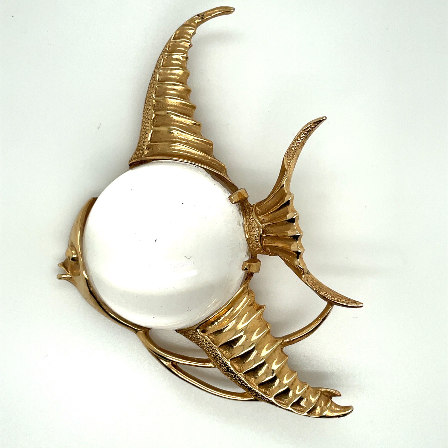Vintage Jelly Belly Fish Cathe Brooch 1940s