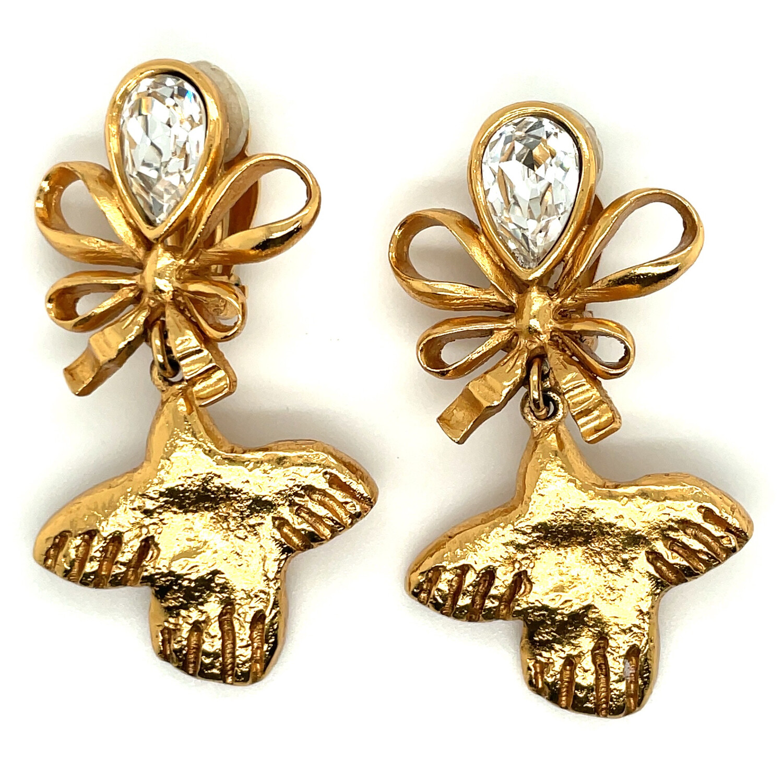 Very Rare Sonia Rykiel Paris Dove Earrings  1980s
