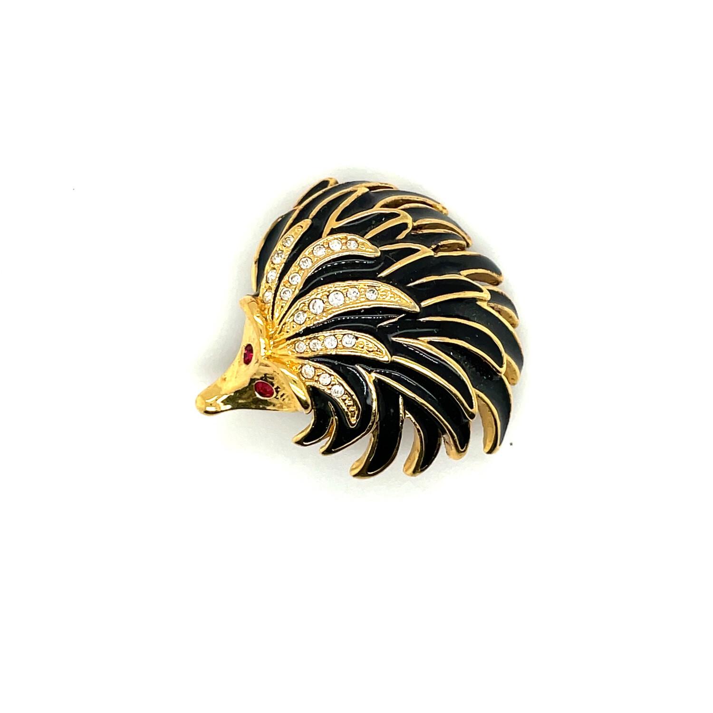 Tiny Hedgehog Pin 1980s