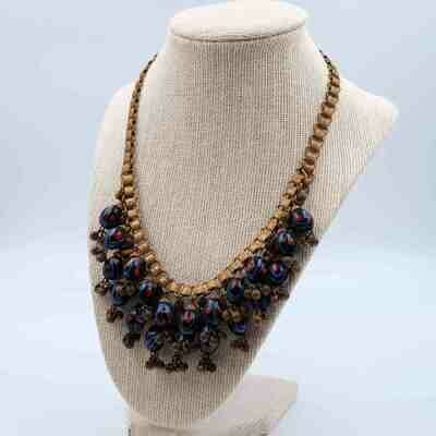 Vintage Early Miriam Haskell Frank Hess Necklace 1930s