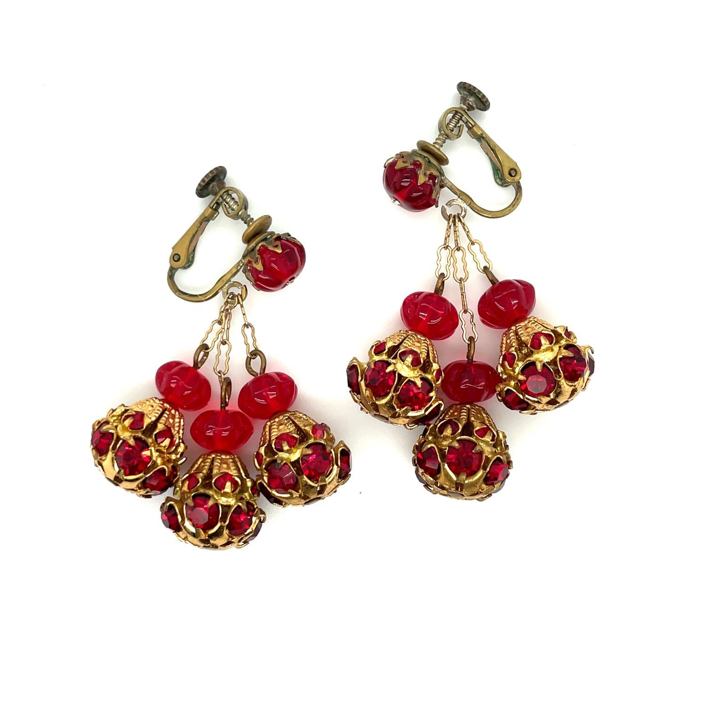 Vintage Miriam Haskell Dangle Earrings